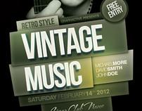 Retro Style Poster Design Template