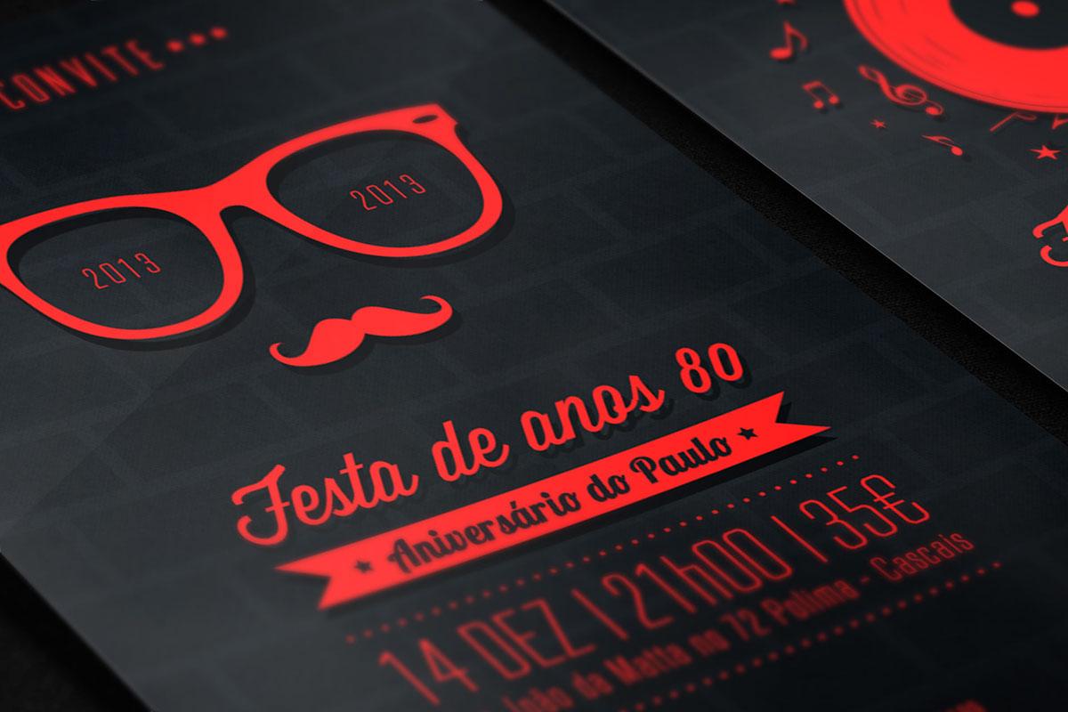 Convite :: Festa Anos 80