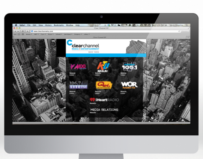 Clear Channel New York & Media Relations Web Designs