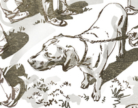 Illustrations for Oscar Dogs Blog
