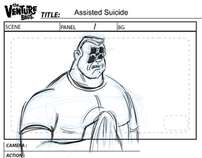 Venture Brothers Storyboards for Adult Swim