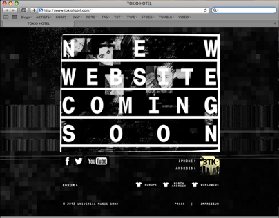 Temporary Webdesign for tokiohotel.com