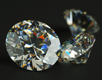 3D rendering of diamond