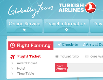 Turkish Airlines UI Design (Personal Project)