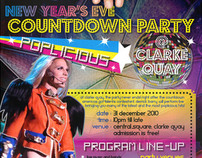 Clarke Quay NYE Countdown Party Poster Design