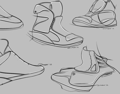 Footwear doodles