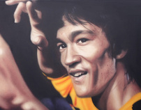 Bruce Lee Graffiti Portrait by Akse (P19 Crew) 2012