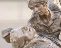 Memorial as mulheres na guerra do Vietname.