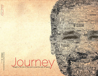 Journey a Typographic Yearbook Cover