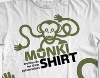monki shirt logotype