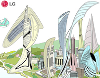 illusrations for LG pavilion,  YEOSU EXPO 2012 KOREA