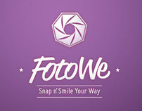 FotoWe Custom Photobooth Logo Design