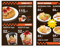 A&W THAILAND MENU BOARD