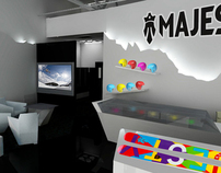 Majesty ski showroom and shop interior design