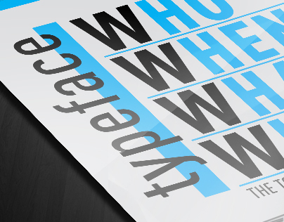 Typeface Who-When-What-Where | infographic