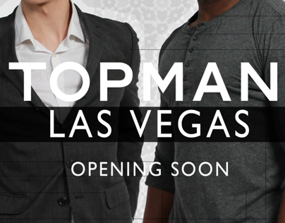 Topman Las Vegas Look Book & VIP Card