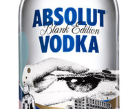 ABSOLUT VODKA BLANK EDITION by MARIO WAGNER