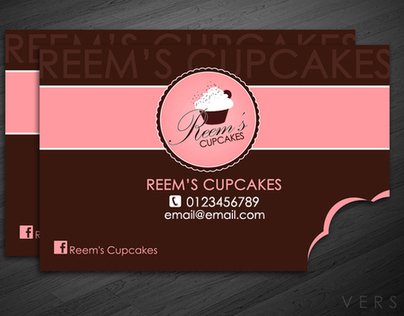 Reems Cupcakes - Bitten Buisness Card/Norway