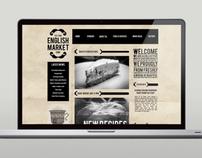 English Market Branding, Web Design, Packaging