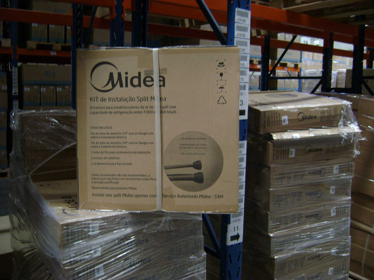 Box for the instalation kit for Midea do Brasil