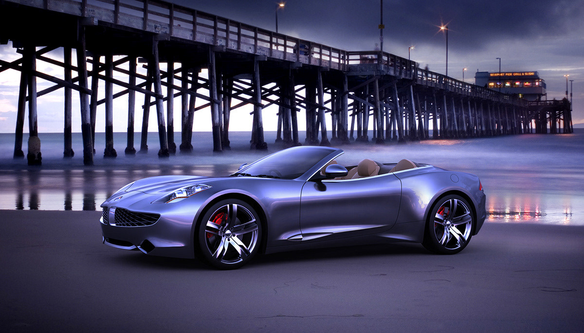 Fisker Sunset Interior/Exterior Design