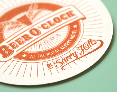 AGDAs Beer OClock Letterpress coasters & invite