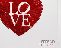 embroidery on paper : spread the love