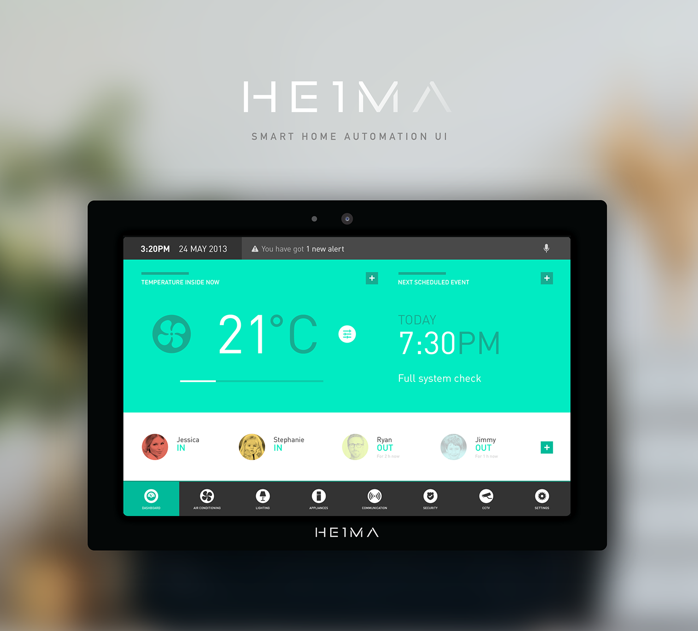HEIMA. Smart Home Automation UI.