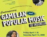 Gamelan Popular Music of Indonesia Concert Poster
