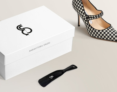 Brand identiy for Mariavittoria Spagni shoes store