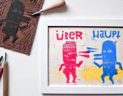 FANCY JOH & ÜBERHAUPT   block prints