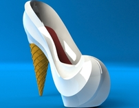 The Ice Cream Cone Shoe