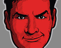 Charlie Sheen Illustrations