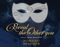 Reveal the Other you Mask Party for Donation / Poster
