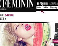 French Magazine webdesign