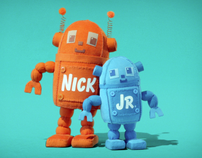 Nick Jr Huggables Logo IDs 2008 ( robots)
