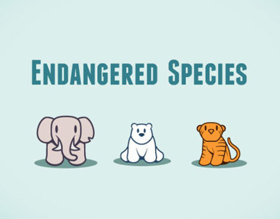 Endangered Species Interactive Infographic