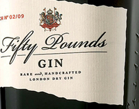 Fifty Pounds Gin Print Design