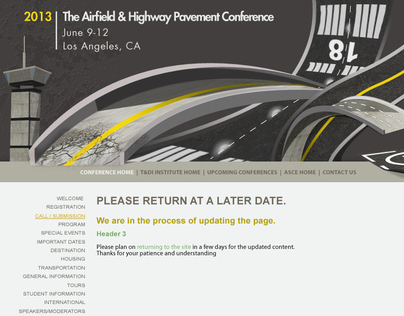 The Airfield & Highway Pavement Conference 2013 website