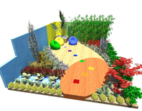 Approved show garden design for entry to Bloom 2012
