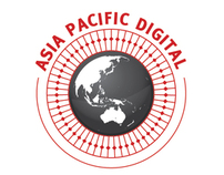 Asia Pacific Digital logo concept