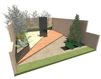 Approved show garden design for entry to Bloom 2011