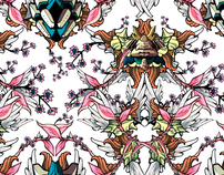 Wallpaper pattern design 7 Edouard Artus ©2012