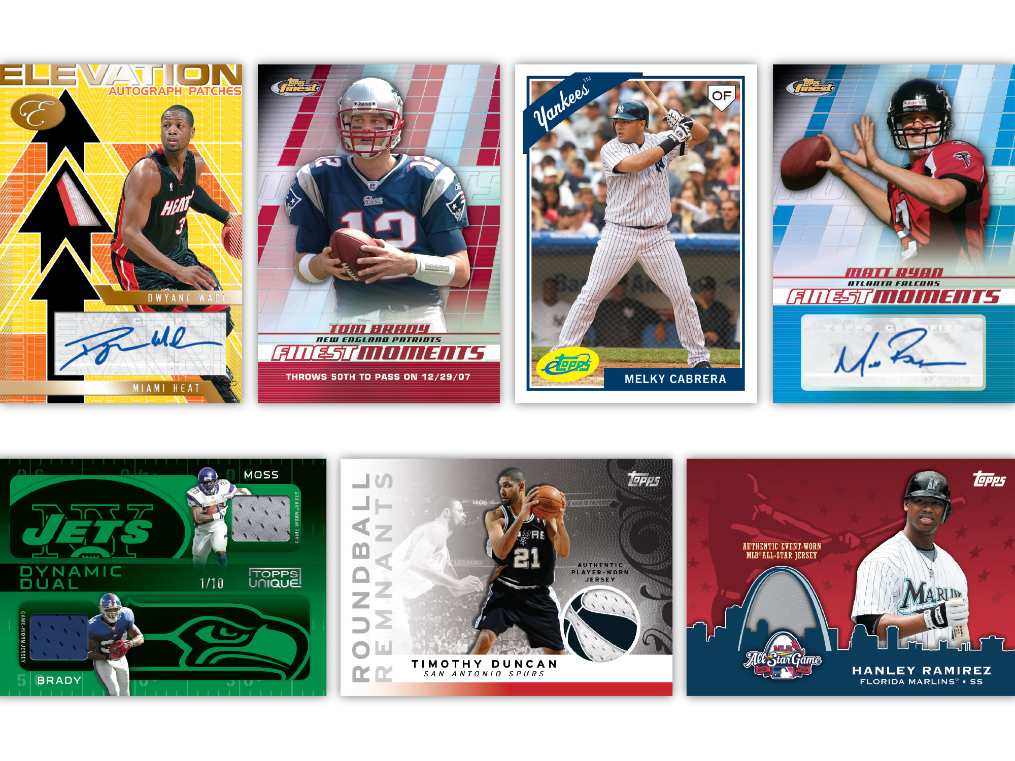 Sports Trading Card Designs: Topps