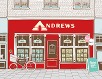 Andrews Estate Agents Shopfront illustration