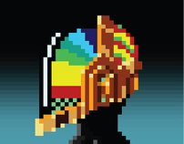 Pixelate Daft Punk!