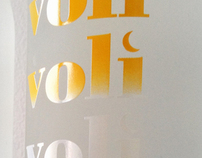 Bottle Design - Voli Light Vodkas Mango Coconut Launch