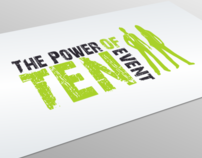 Power Of Ten Event Branding