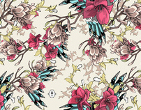 Wallpaper pattern design 10 Edouard Artus ©2012