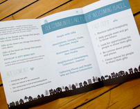 Neighborhoods, Connections and Care Brochure Design